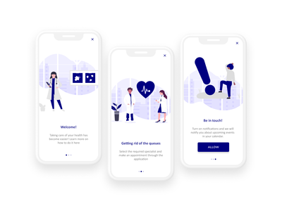 IOS Hospital onboarding Page first design illustraion app ui design