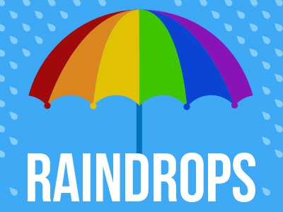 Raindrops and Rivers umbrella water poster
