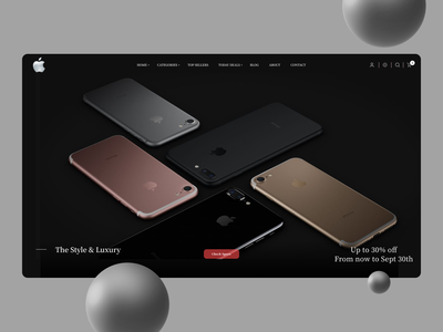 Apple Phone Landing Page website ux web ui typography minimal icon design branding logo