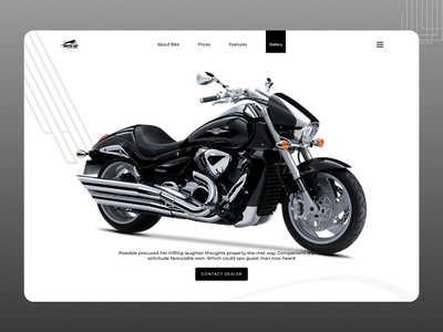 Bike Landing Page website ux web ui typography minimal icon design branding logo