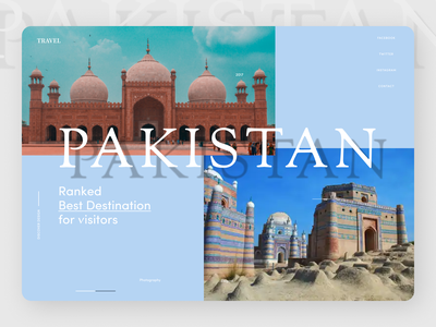 Explore Pakistan Landing Page website web ux ui typography minimal design