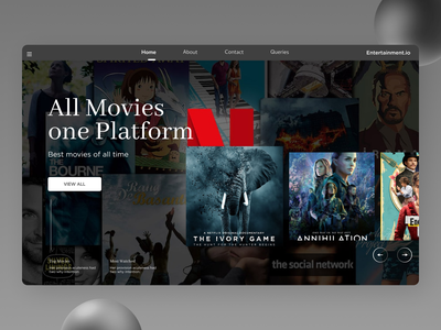 Movie Landing Page illustrator website web ux ui typography minimal design
