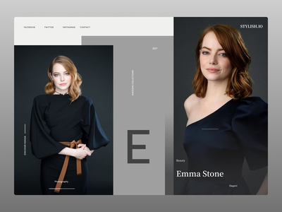 Fashion Landing Page graphic design illustrator website web ux branding ui typography minimal design