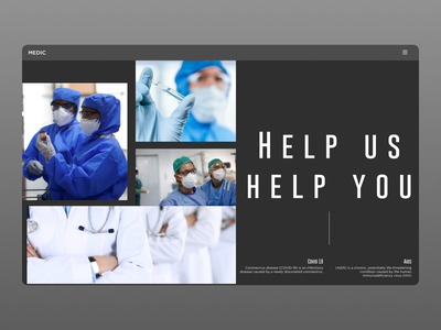 Medicine Landing Page illustrator website web ux ui typography minimal design