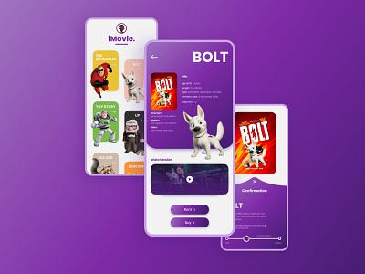 Movie App Design branding flat graphic design illustration minimal ux ui app design