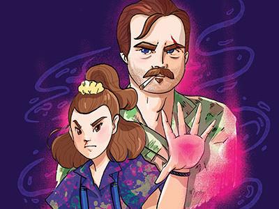 Hopper and Eleven Forever illustration stranger things eleven hopper