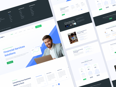 Financial  Web UI landing landing page design landingpage web ui design uidesign ui  ux website web ui web ui kit webdesign solutions service design financial icon ui design typography branding ux ui design