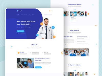 Medical Web UI fitness templatedesign web uiux ui ui design design branding website ui  ux typography uidesign uxdesign uiux doctor healthy lifestyle healthcare medical