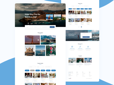 Travel Guide Web UI Design travel web landing world tour clean ui travel website ui ux web webdesign landingpage agency landing page agency website traveling photography uiux ui design branding website ui  ux uidesign