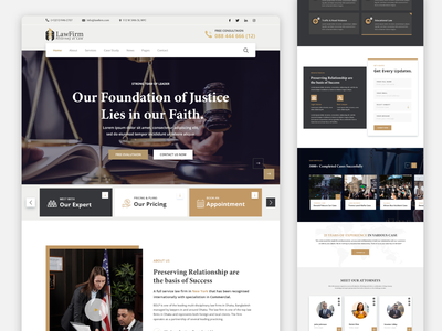 Landing Page | Law Firm website concept ui  ux design uxdesign law uxui ui service design uiux ui design ui  ux website lawyers justice website design webdesign landing page landing page design landingpage lawyer law firm