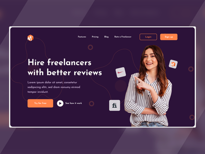 Freelancer Home Page UI portfolio design portfolio portfolio site home page homepage design home screen web design website design homepage landing page design branding webdesign landingpage service design uiux ui design uidesign ui  ux hireme freelancer