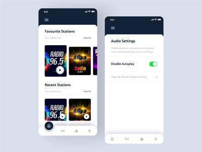 Radio mobile app ios screens uxuidesign application mobileappdesign interface service design clean ui ui uiux ui design uidesign ui  ux mobile mobile ui mobile app smarthome minimal radio app radio