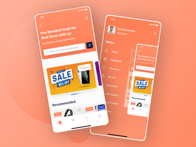 Sparkmart - E-commerce mobile app application app design ui uiux ui design uidesign ui  ux products shopping cart shopping app shop ecommerce shop mobile mobile app design mobile ui mobile app supermarket ecommerce design ecommerce app ecommerce