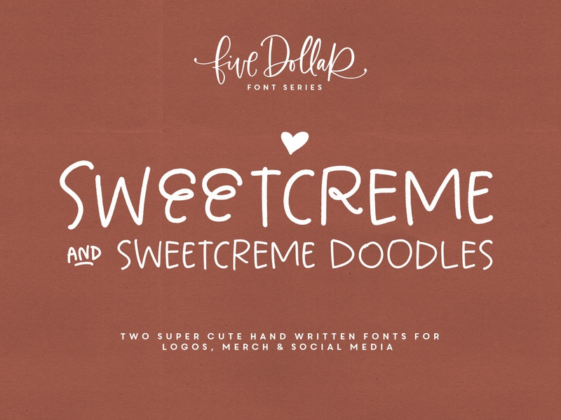 Sweetcreme Font & Doodles doodle handwriting sweet cute typography type font