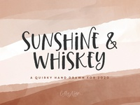 Sunshine & Whiskey Typeface catchwords dingbats typeface type handmade font silly font fun font font