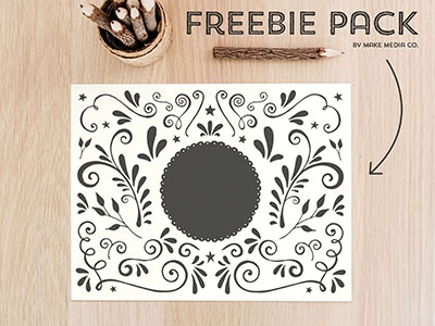 FREE Illustration Pack typography free freebie illustration hand drawn elements vector vectors