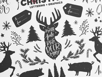 Farmhouse Christmas Vectors