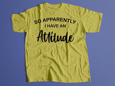 Typography T-shirt design-attitude vector branding typography design illustration tshirt design tshirt logo graphic design