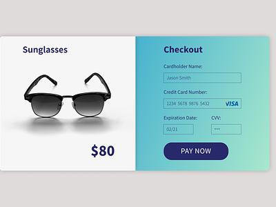 Daily UI #002 Credit Card Checkout figma design ui