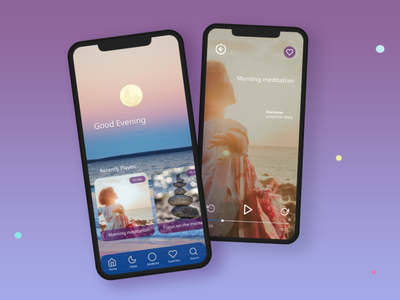 Meditation App prototyping animation ui app design
