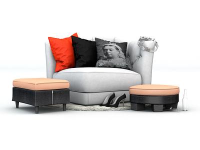 Soapstar Sofa cinema4d design 3d