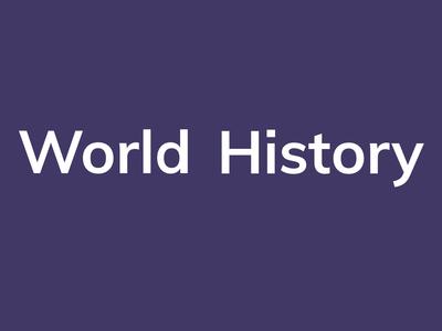 World History page logo animation