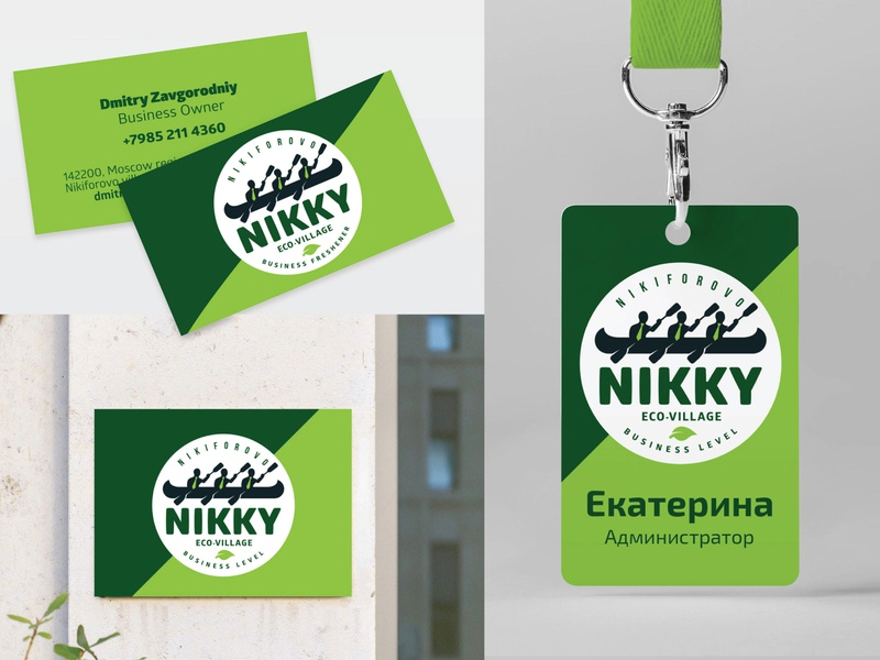 Logo design eco-village Nikky logo illustration design branding