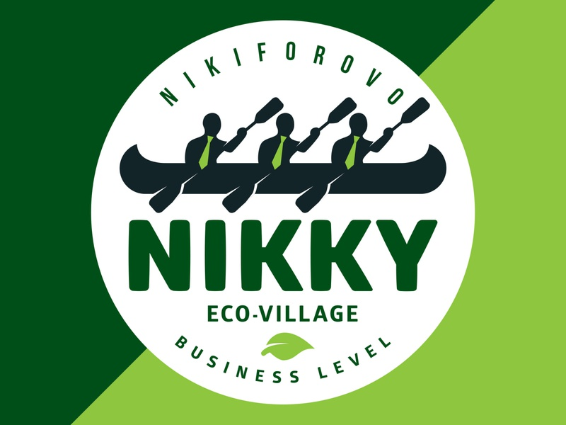 Logo design Nikky eco-village logo design illustration branding