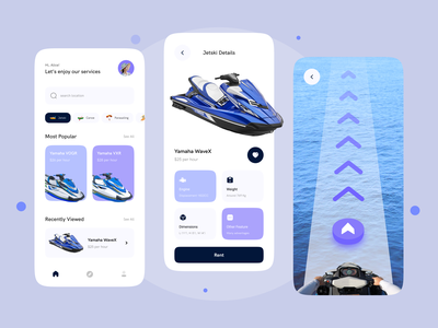 Jetski Rental Mobile Apps mobile watersport jetski rent jetski mobile app design mobile apps app mobile ui design card uiux ui design ui
