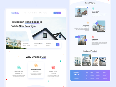 Habitat - Real Estate Landing Page clean ui clean web design landing pages landing page ui landingpage real estate landing page real estate logo landing page bussines design card uiux ui design ui