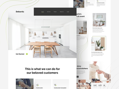 Dekoritz - Interior Design Landing Page clean design design card uiux ui design ui furniture interior landing page interior landing page web design website