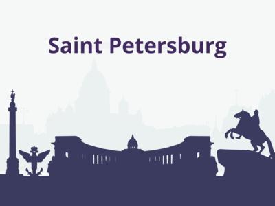 Saint Petersburg. Illustration for web