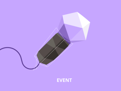 Low poly illustration - microphone