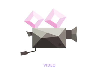 Low poly illustration - video