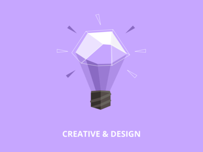 Low poly illustration - Creative ideas (Lamp)
