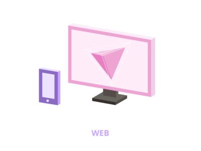 Low poly illustration - Web design