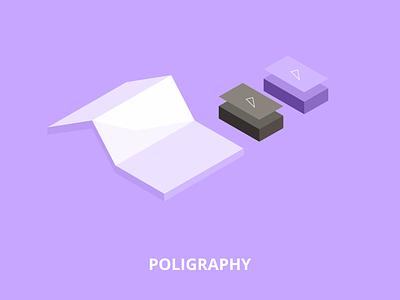 Low poly illustration - Poligraphy brochure bussines card polygraphy isometric illustration isometric flat low polygon low poly 2d illustration vector web design