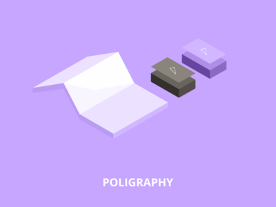 Low poly illustration - Poligraphy