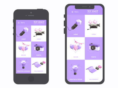 Web-design / Services on iphones