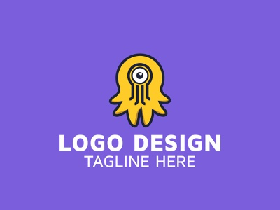 Octopus logo design idea app icon typography logo cleaning company branding design website vector illustration