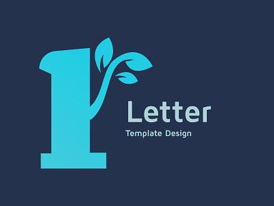 Number one leaf logo design template, advertising
