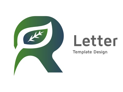 Alphabet R template design advertising