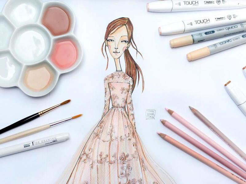Valentino inspiration maison valentino fashion illustration dress haute couture