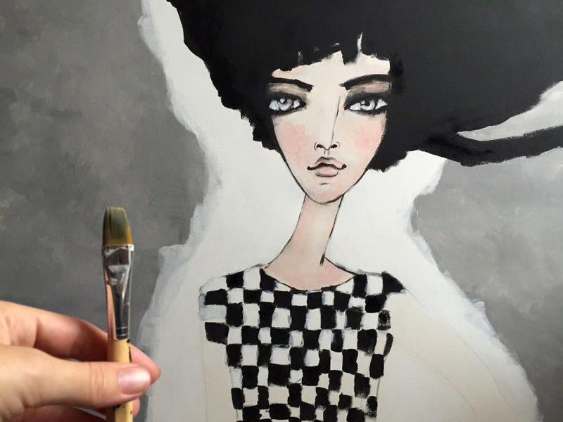 Arylic on canavas painting canvas acrylic