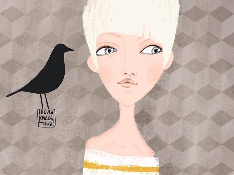 Eames House Bird design home eames bird girl drawing illustration