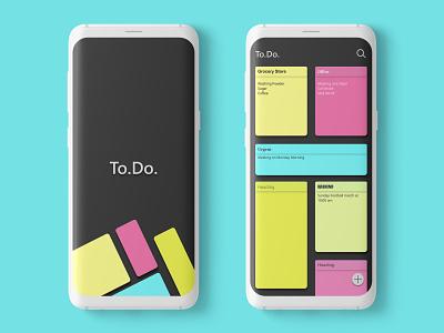 To.Do. Notepad App UI Concept ui  ux userinterfacedesign adobexd uiuxdesigner uiuxdesign dailyui uiux ui