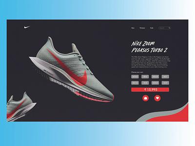 Nike Product Page UI Design Concept uiux design uxdesigner uxdesign uiuxdesign adobephotoshop adobexd uiux ui