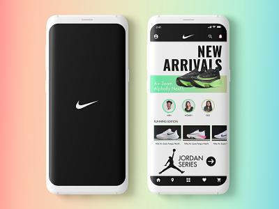 Nike App UI Design Concept nikedesign nikeapp nike branding userinterfacedesign uiuxdesigner uiux design ui  ux dailyui adobephotoshop uiuxdesign uiux adobexd