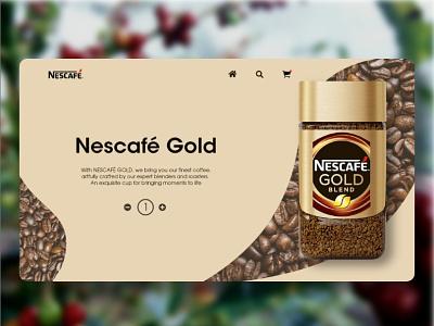 Nescafe Product Page Ui Design branding ui  ux dailyui userinterfacedesign uiuxdesigner uiux design adobephotoshop uiuxdesign uiux adobexd