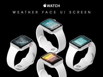 Apple Watch Weather Face UI Screen weather iwatchface watchface smartwatch appleworld apple design appledesign apple iwatch applewatch ui ui  ux dailyui userinterfacedesign uiuxdesigner uiux design adobephotoshop uiuxdesign uiux adobexd